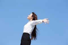 企业无忧无虑的妇女 免版税图库摄影