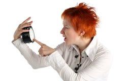 企业时钟妇女 免版税库存图片
