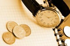 企业时间背景 免版税图库摄影