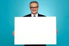 企业有代表性的藏品空白广告董事会 免版税图库摄影