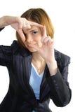 企业框架妇女 免版税库存照片