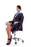 企业椅子坐的妇女 库存图片