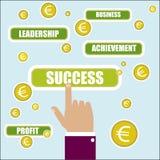 企业概念例证 成功关键词 免版税库存照片