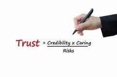 企业概念信任  图库摄影