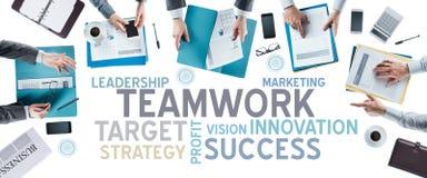 企业概念和队在工作 免版税图库摄影