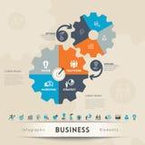 企业概念图表元素 库存例证
