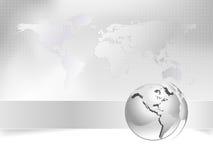 企业概念地球映射世界 库存照片