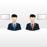 企业概念性人向量 库存图片