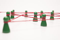 企业概念性图象网络连接社交 图库摄影