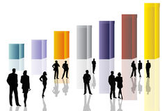 企业概念性场面 向量例证