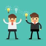 企业概念想法分享 库存照片