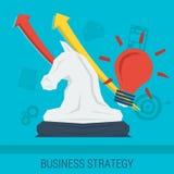 企业概念战略 库存照片