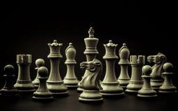 企业概念抽象背景  棋的常设国王 免版税图库摄影