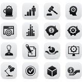 企业概念按钮,黑版本 免版税库存图片