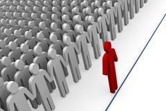 企业概念排行步骤对  库存例证