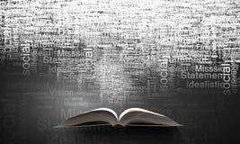 企业概念教育查出的白色 图库摄影