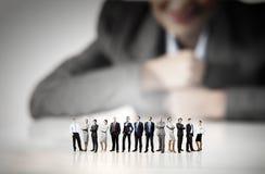 企业概念查出的小组白色 库存图片