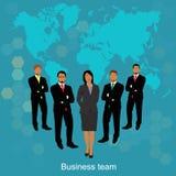 企业概念查出的小组白色 库存例证