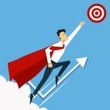 企业概念查出的成功白色 终点线 超级领导和超级 皇族释放例证