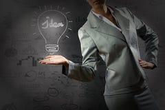 企业概念查出的成功白色 库存图片