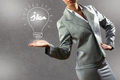 企业概念查出的成功白色 库存照片