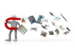 企业概念查出的成功白色 图库摄影