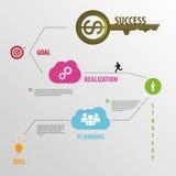 企业概念模板 Infographic元素 向量 免版税库存图片