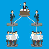 企业概念的传染媒介例证 免版税库存图片
