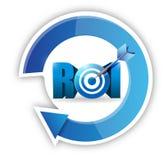 企业概念的回收投资。目标 免版税库存照片