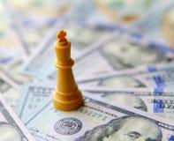 企业概念的国王 背景美元查出我们空白 免版税库存照片