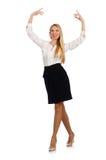 企业概念的女实业家被隔绝 免版税库存照片