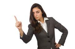 企业概念的女实业家被隔绝 库存照片