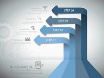 企业概念的抽象模板 免版税库存图片