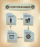 企业概念的4步 免版税图库摄影