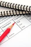 企业概念重要性紧急程度 免版税图库摄影