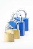 企业概念锁定问题 免版税库存照片