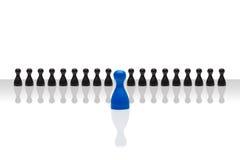 企业概念领导向前红色黑梯度 库存照片