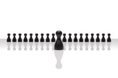 企业概念领导进步小组小黑梯度 库存图片