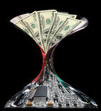 企业概念高行业技术 免版税库存图片