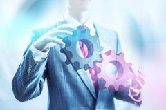 企业概念齿轮 免版税库存图片