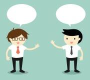 企业概念,两个商人谈话 也corel凹道例证向量 库存照片