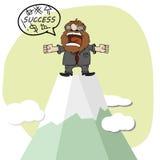 企业概念,动画片商人 向量例证