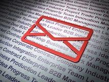 企业概念:在企业背景的电子邮件 免版税库存图片