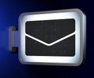 企业概念:在广告牌背景的电子邮件 库存图片