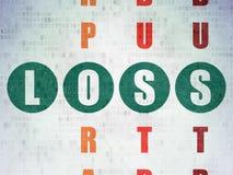 企业概念:在纵横填字游戏的损失 免版税库存图片