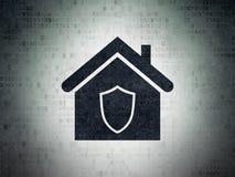 企业概念:数字资料纸背景的家 库存图片