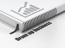 企业概念:预定成长图表,招徕在白色背景的事务 免版税库存照片