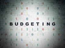 企业概念:预算在数字式纸 免版税图库摄影