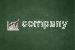 企业概念:Growth Graph和Company 库存图片