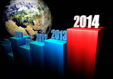 企业概念2014年-欧洲和亚洲 免版税库存照片
